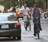 Leonardo DiCaprio and Blake Lively ride bikes with Lukas Haas.