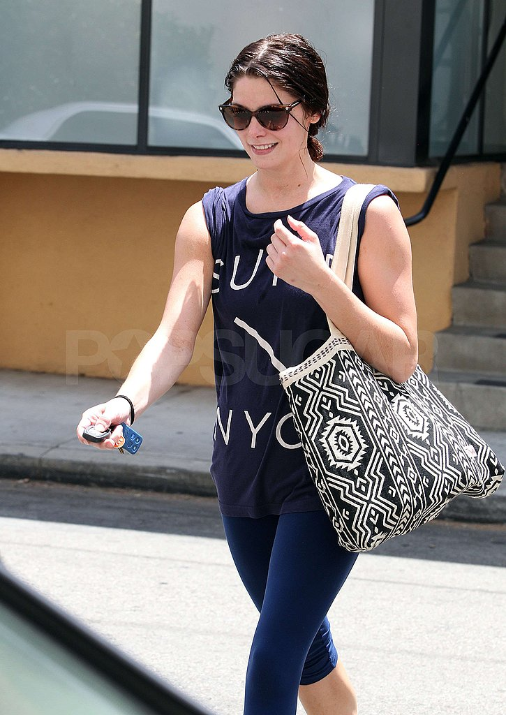 Ashley Greene left her gym.
