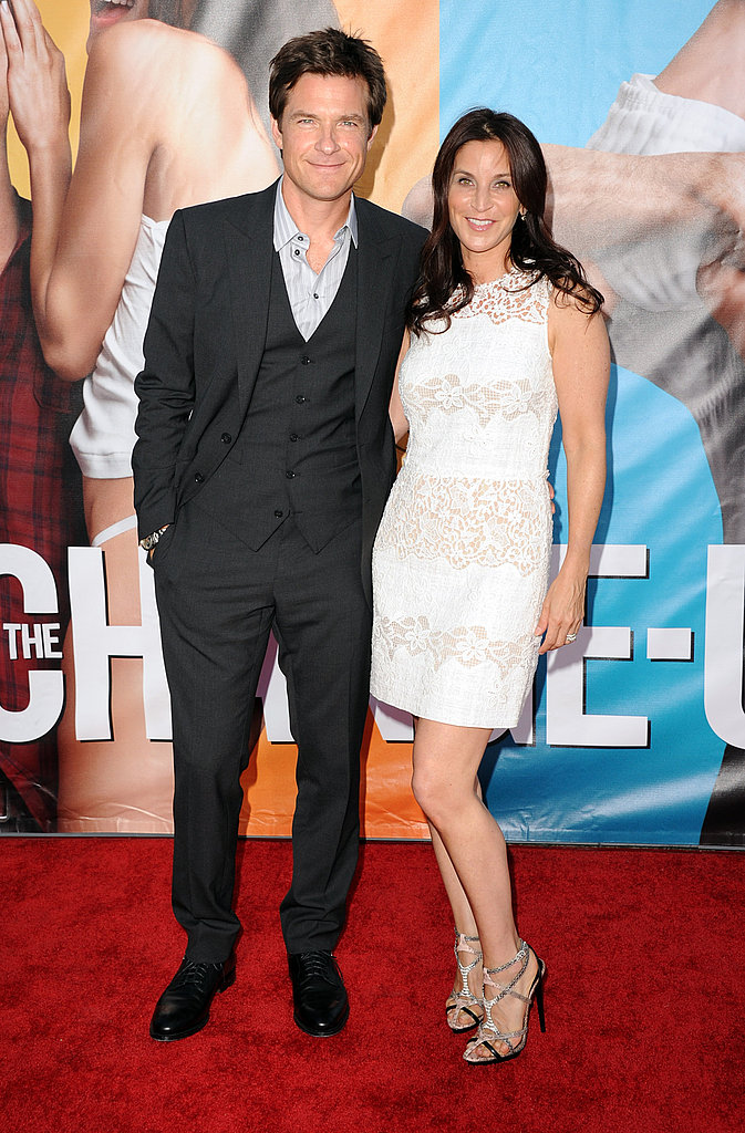 Jason Bateman and Amanda Anka at a premiere.