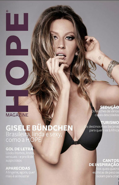 Gisele channeled Brigitte Bardot for the Hope print edition cover.