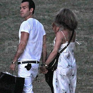 Jennifer Aniston and Justin Theroux Pictures at Christine Taylor's Party