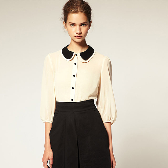 Asos Double Peterpan Collar Blouse, $52