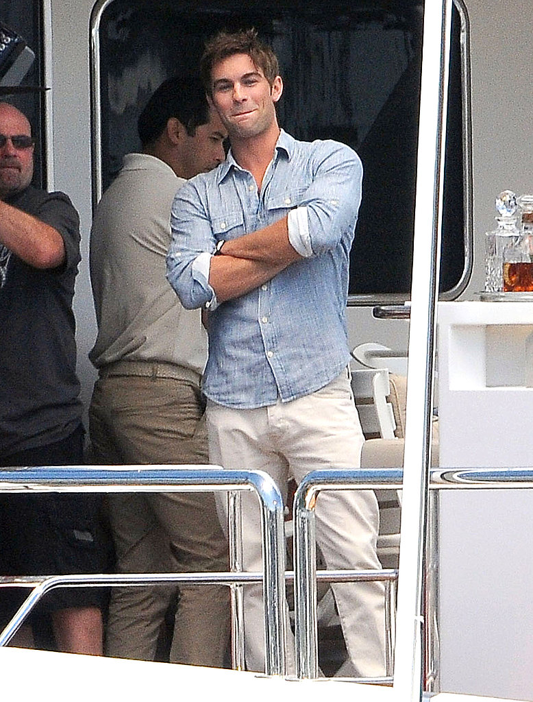 Chace was looking good between scenes.