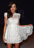 Miranda Kerr in white lace.