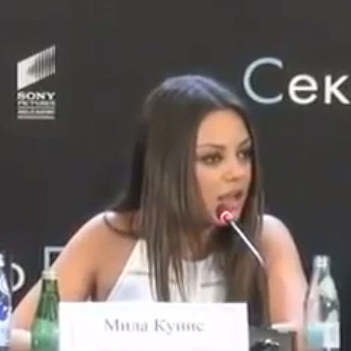 Video of Mila Kunis Speaking Fluent Russian to Defend Justin Timberlake at Friends With Benefits Moscow Junket