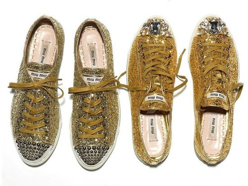 Miu Miu Fall 2011 Glitter Sneakers
