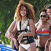 Rihanna White Bikini Pictures in Barbados