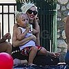 Gwen Stefani and Zuma Rossdale Playing at a Park Pictures