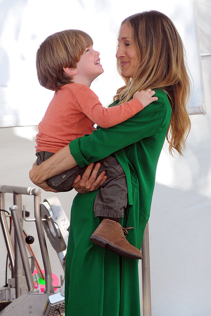 Sarah Jessica Parker Plays Doting Mom Getting It All Done on Reshoots