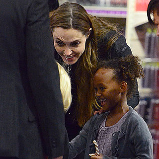 Angelina Jolie and Zahara Jolie-PItt Toy Shopping in London Pictures
