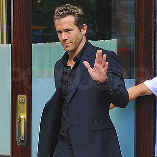Ryan Reynolds Leaving a NYC Hotel in a Suit Pictures