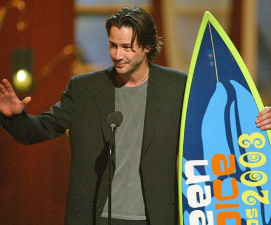 Keanu Reeves took home a board in 2003.