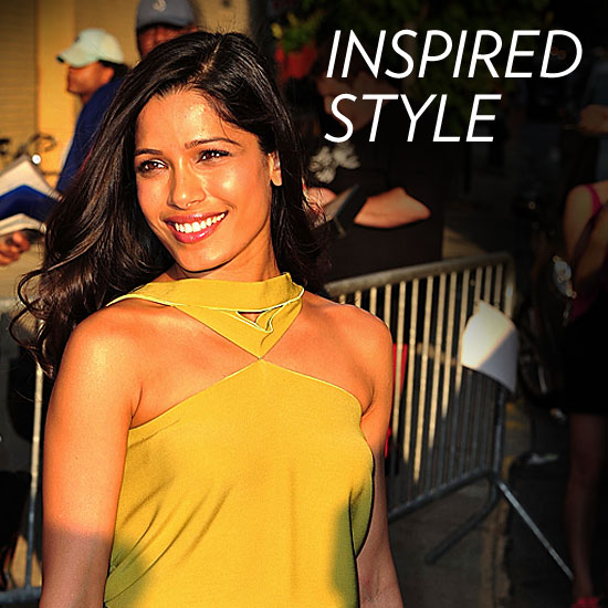 How Freida Pinto Nails Chic With a Twist