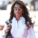 PaulaAbdul Wears Mirrored Sunglasses