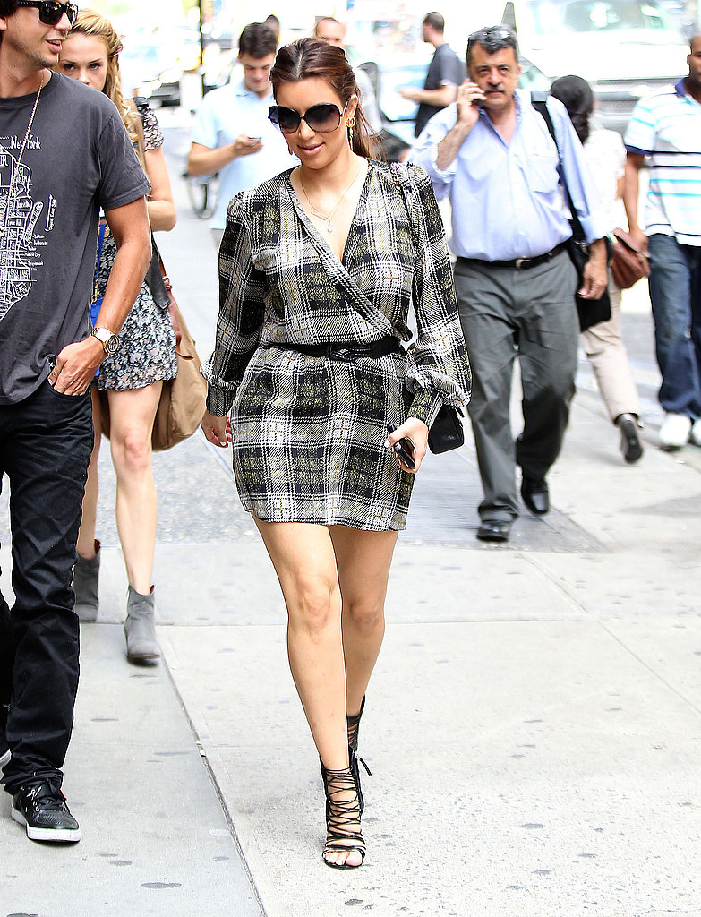 Kim Kardashian was in the Big Apple.