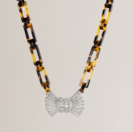 J.Crew Deco Bow Tie Necklace ($65)