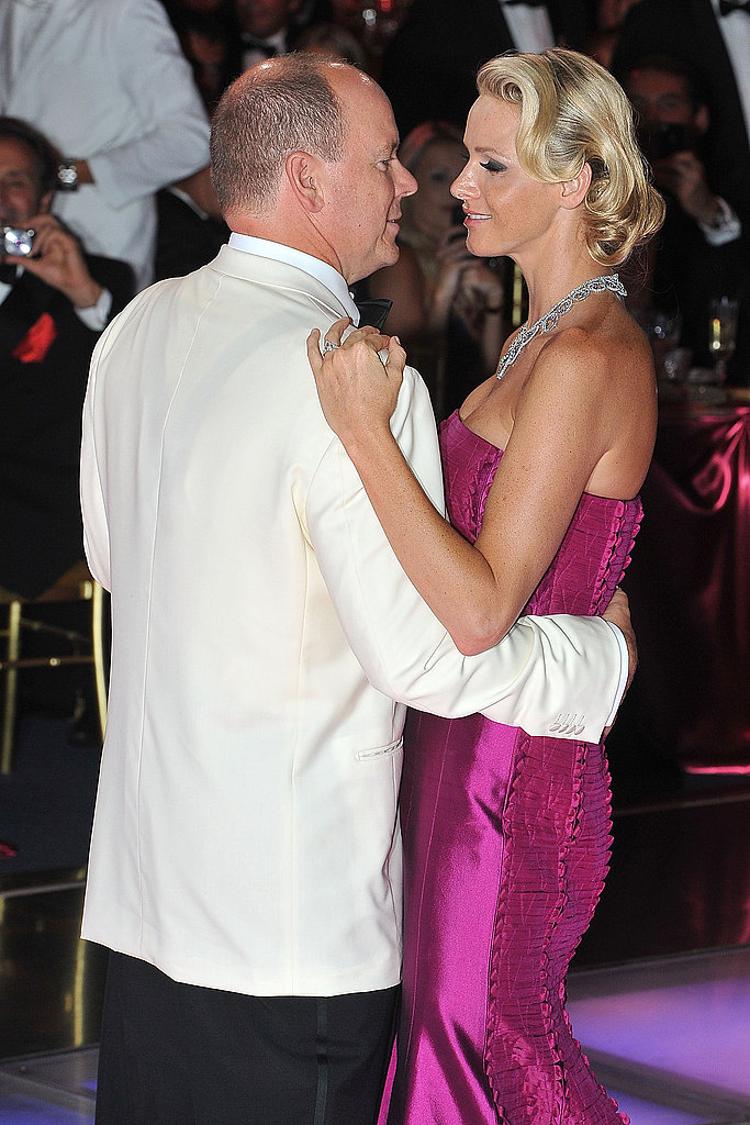 Charlene and Albert share a sweet moment at the gala.