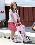 Suri Cruise Gives Her Doll a Tour of Brentwood With Katie Holmes