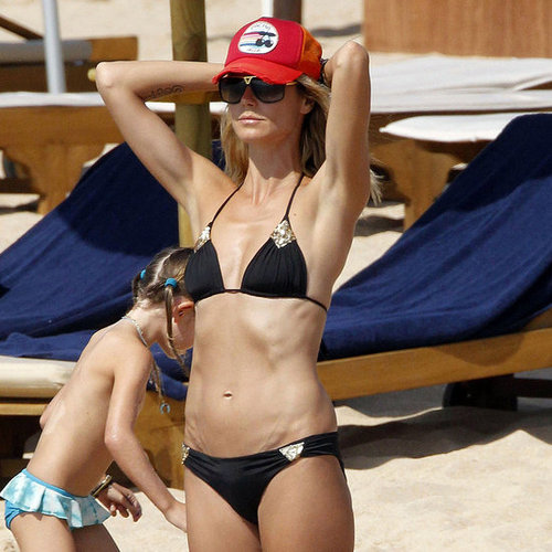 Heidi Klum Bikini Pictures in Spain With Family