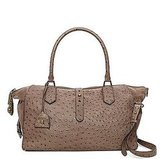 Westward Adventurer Satchel in Taupe Ostrich, $795