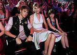Justin Bieber with Taylor Swift at the Teen Choice Awards.