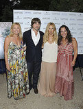 Rachel Zoe, Rodger Berman, Debra Halpert, and Samantha Yanks at a Hamptons magazine party.