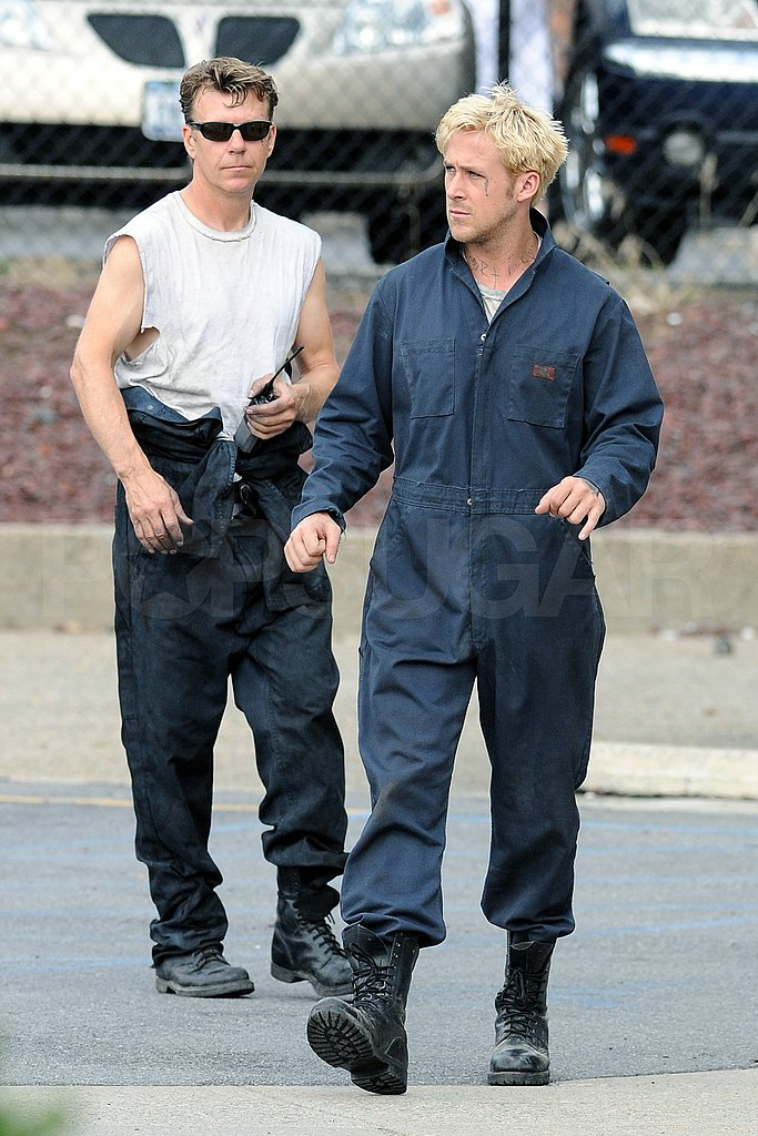 Ryan Gosling on set.