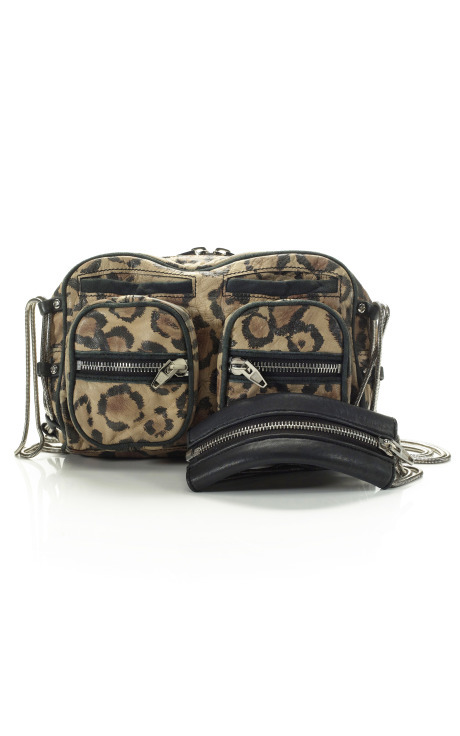 Alexander Wang Leopard Brenda Shoulder Bag, $745