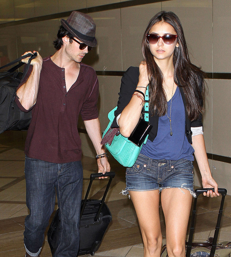 Ian Somerhalder and Nina Dobrev take off.