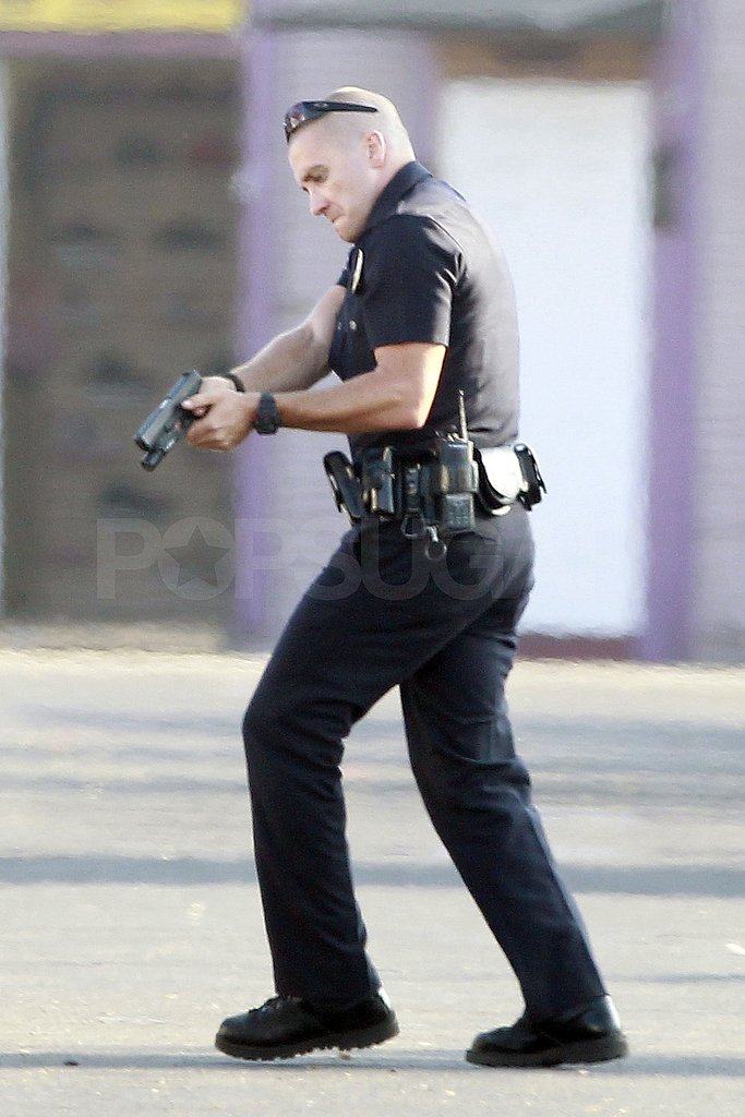 Jake Gyllenhaal carried a gun on the LA set of End of Watch.