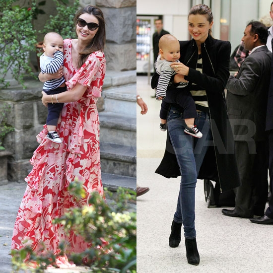 Miranda Kerr Parties With Flynn, Then Takes Off For Melbourne