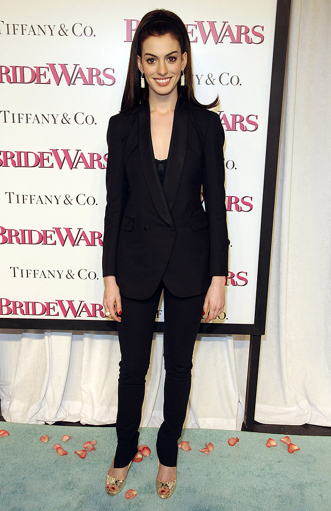 Suiting up in Boy by Band of Outsiders for the January 2009 premiere of Bride Wars.