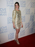 In sequined Oscar de la Renta at the Love & Other Drugs premiere in Sydney in 2010.