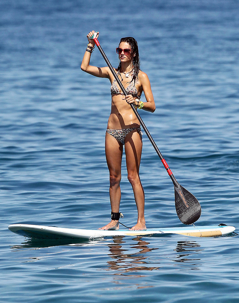 Alessandra Ambrosio in Hawaii.