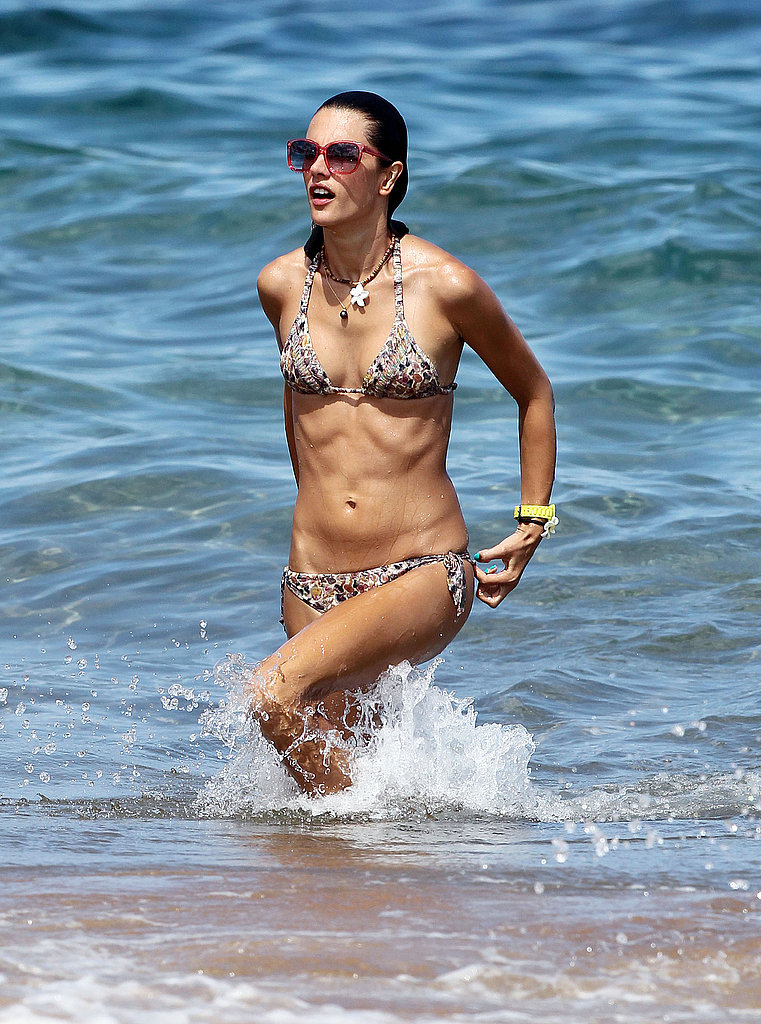 Alessandra Ambrosio on vacation.