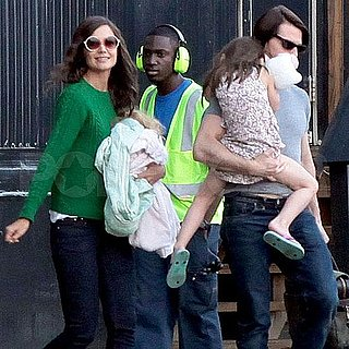 Tom Cruise, Katie Holmes, & Suri Cruise Helicopter Pictures