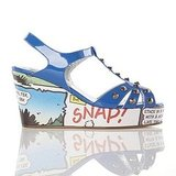 Beano Cartoon Wedge in Blue ($201)