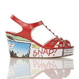 Beano Cartoon Wedge in Red ($108)