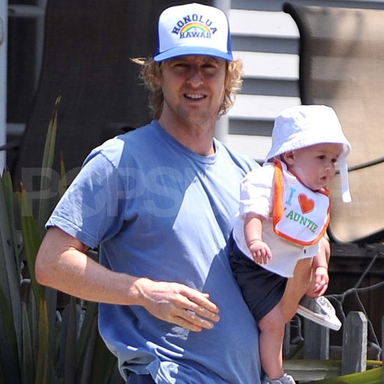 Owen Wilson with his son Robert Ford Wilson.