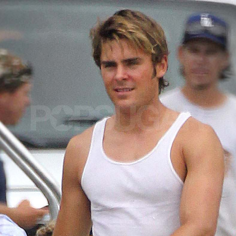 Zac Efron films The Paperboy.