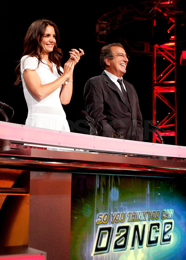 Katie Holmes and Kenny Ortega gave the contestants a standing ovation during Wednesday night's So You Think You Can Dance show.