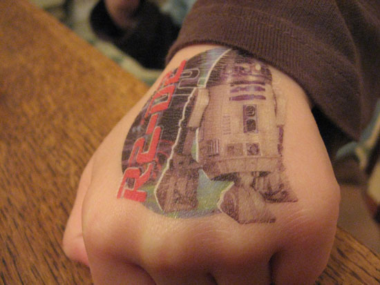 Gotcha! This little R2D2 is just temporary.  Source: Flickr User guy schmidt