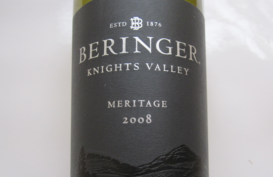 2008 Beringer Knights Valley Meritage