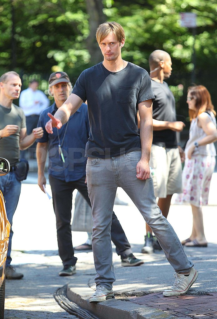 Alexander Skarsgard Gets to Work With a Cute Kid Costar in the Big Apple