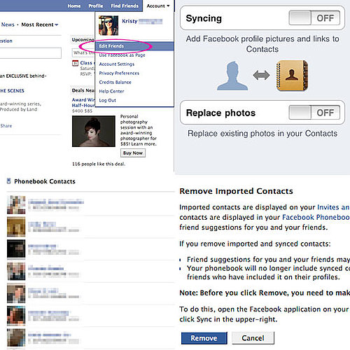 How to Erase Contact Numbers From Your Facebook Account