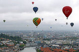 Balloons take part in the Bristol International Balloon Fiesta.
