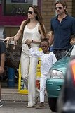 Angelina Jolie and Brad Pitt with Zahara.