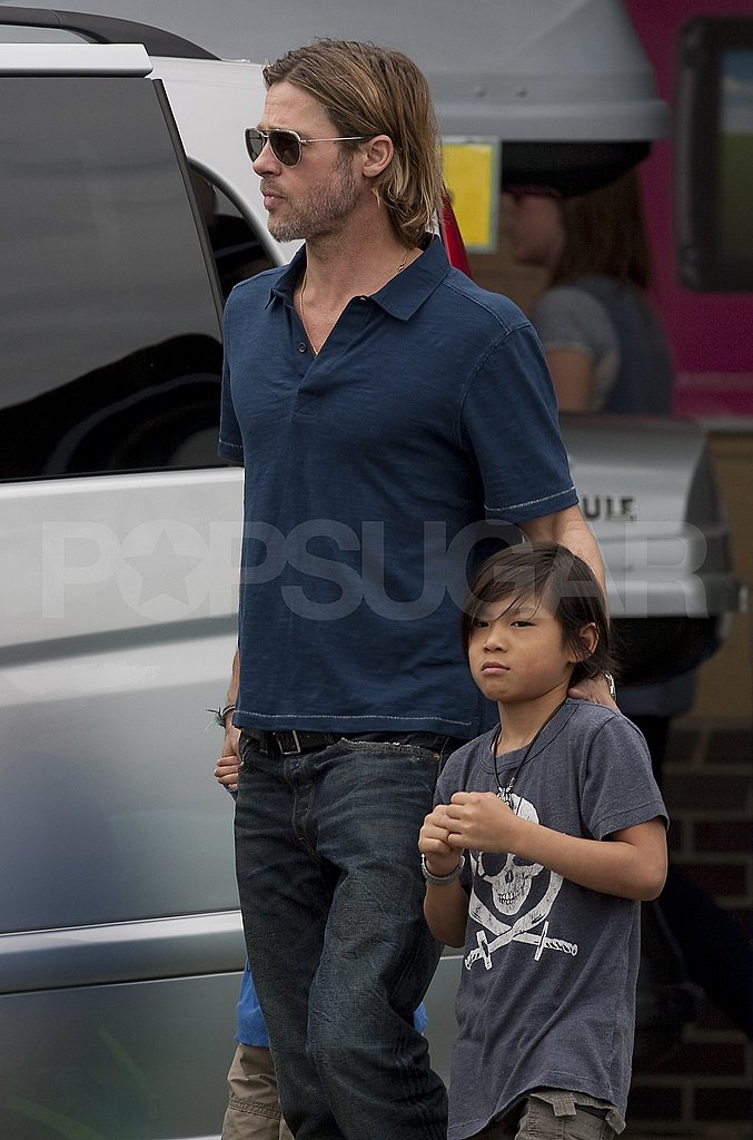 Brad Pitt and his son Pax.