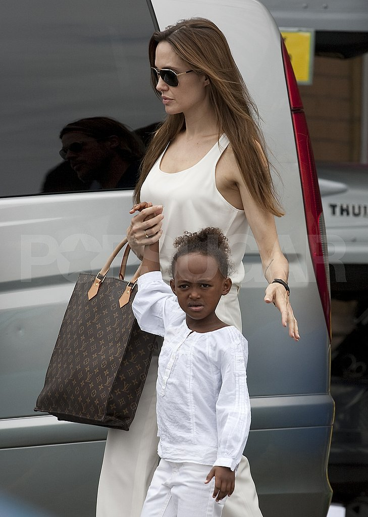 Angelina Jolie and Zahara Jolie-PItt.