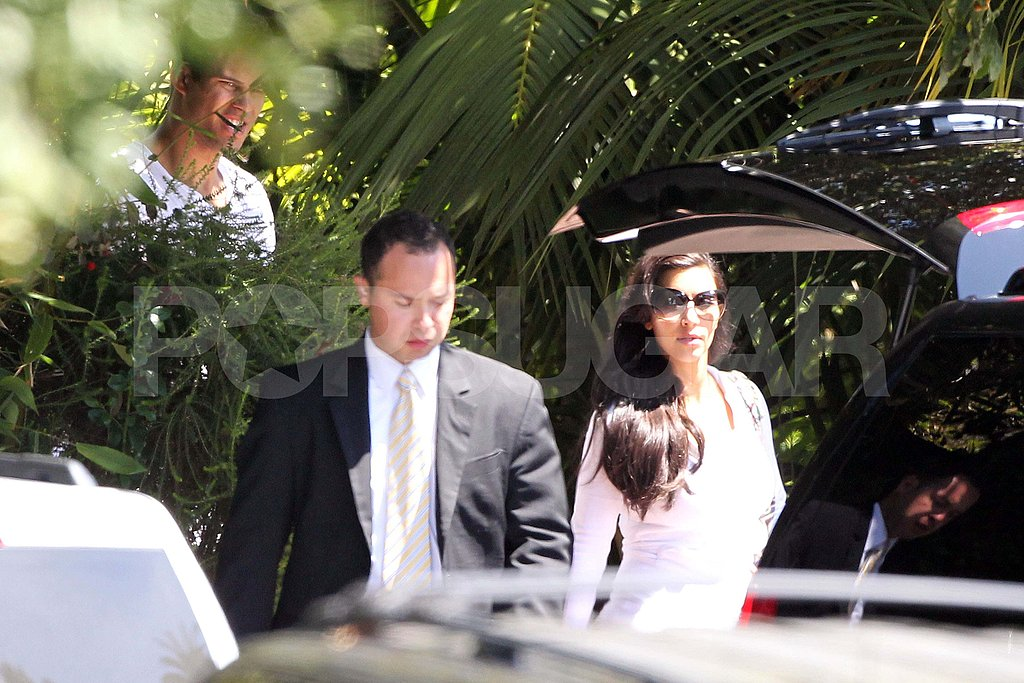 Kim Kardashian and Kris Humphries after their wedding.